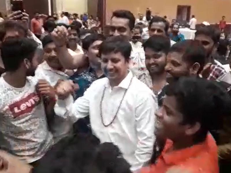 VIDEO : विधायक आकाश विजयवर्गीय का अब 'खलनायक' वाला वीडियो वायरल