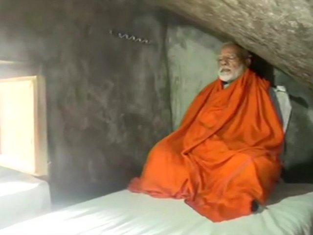 PM Modi in Kedarnath: केदारनाथ की रुद्र गुफा में मोदी ने किया ध्यान, देखें तस्वीरें