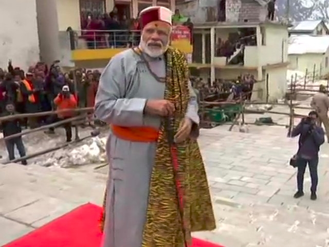 Image result for modi at kedarnath