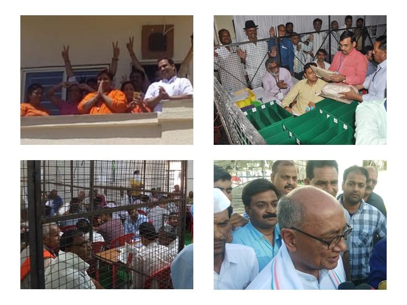 Madhya Pradesh Lok Sabha Election Results 2019 Live Updates: इंदौर में लालवानी ने तोड़ा सुमित्रा महाजन का रिकॉर्ड, सिर्फ एक सीट पर कांग्रेस आगे