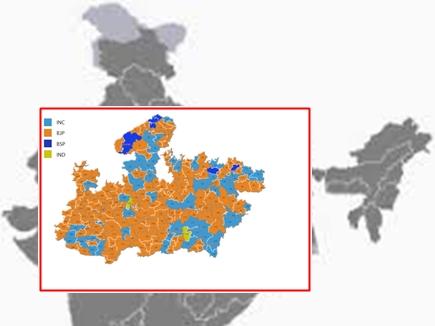 मध्यप्रदेश विधानसभा चुनाव विशेष: कुछ ऐसी थी तेरह की केसरिया तस्वीर