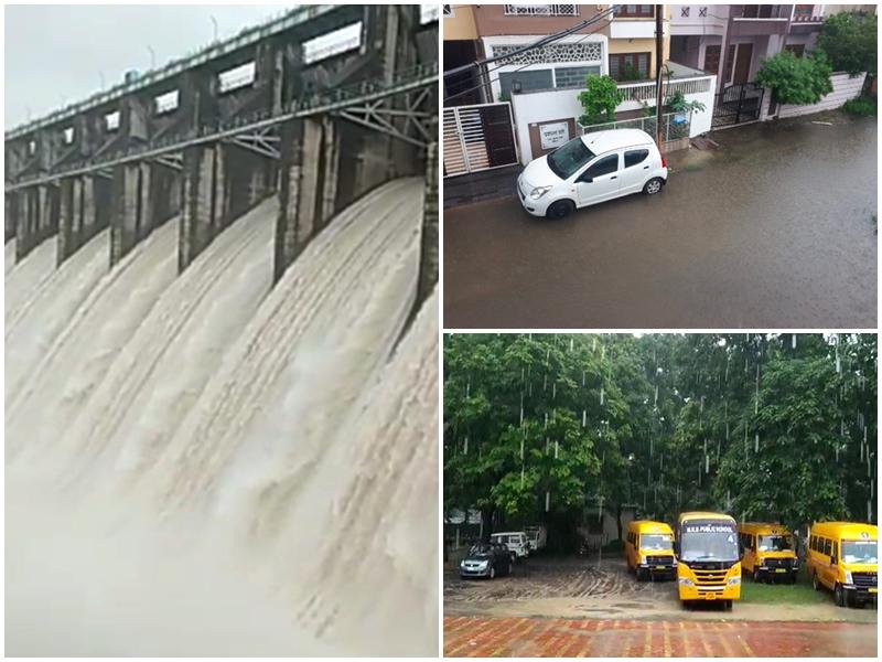 Madhya Pradesh Weather Update : इन जिलों में हो रही आफत की बारिश, तवा डैम के 11 गेट खोले गए