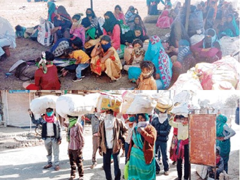 LockDown in MP : बस वालों ने 300 मजदूरों से 3 लाख किराया लेकर जंगल में छोड दिया