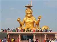 Pitreshwar Hanuman : इंदौर में हुई 108 टन वजनी पितरेश्वर हनुमान की प्राण प्रतिष्ठा