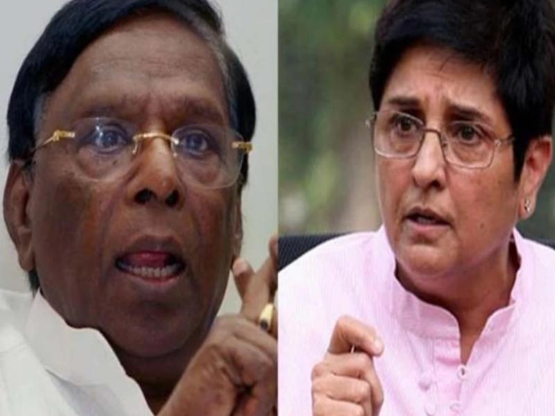 पुडुचेरी के सीएम ने उपराज्यपाल किरण बेदी को लेकर दिया विवादास्पद बयान, इशारों में बताया राक्षस