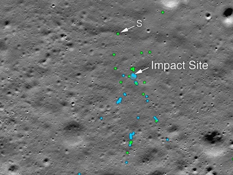 Chandrayaan 2 Lander Vikram On Moon Surface: नासा ने चंद्रमा की सतह पर खोजा विक्रम लैंडर का मलबा, जारी की तस्वीर