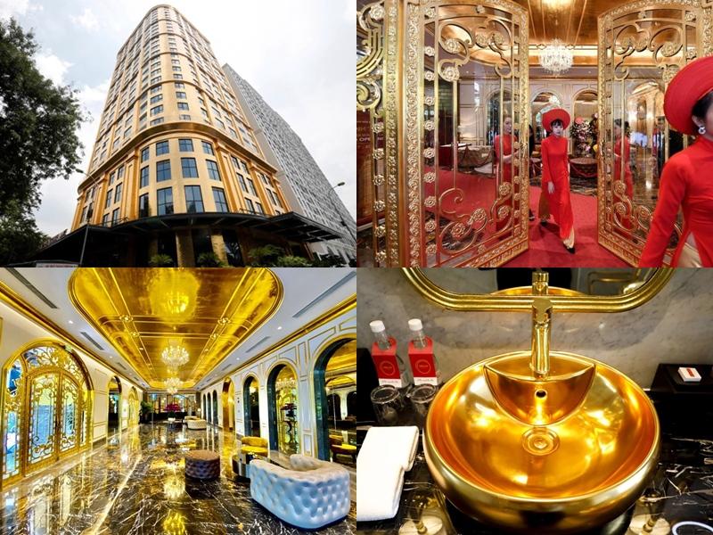 Gold Plated Hotel: सोने से बना है होटल, कमरे से लेकर टॉयलेट तक में सोने की चमक, देखें तस्वीरें