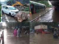 Mumbai Rains: भारी बारिश के बीच नाले में बही महिला और दो बच्चियां, कई इलाकों में भरा पानी