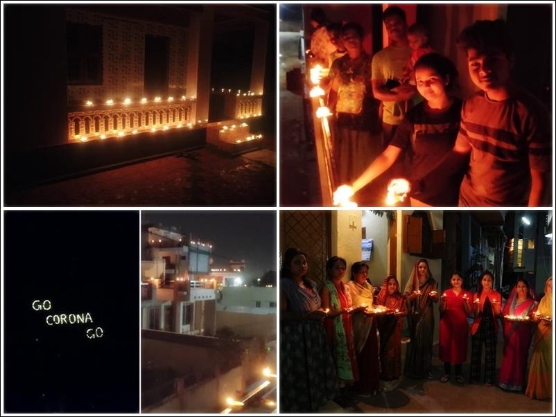 #9baje9minutes : कोरोना से लड़ाई में देश ने 9 मिनट तक जलाये दीये, देखें Photos-Video