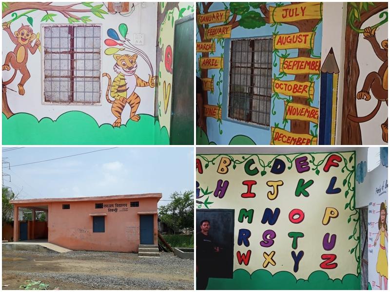 Actor Ranveer Singh : रणवीर के फैंस का छात्रों को अनोखा तोहफा, स्कूल को बनाया रंगीन