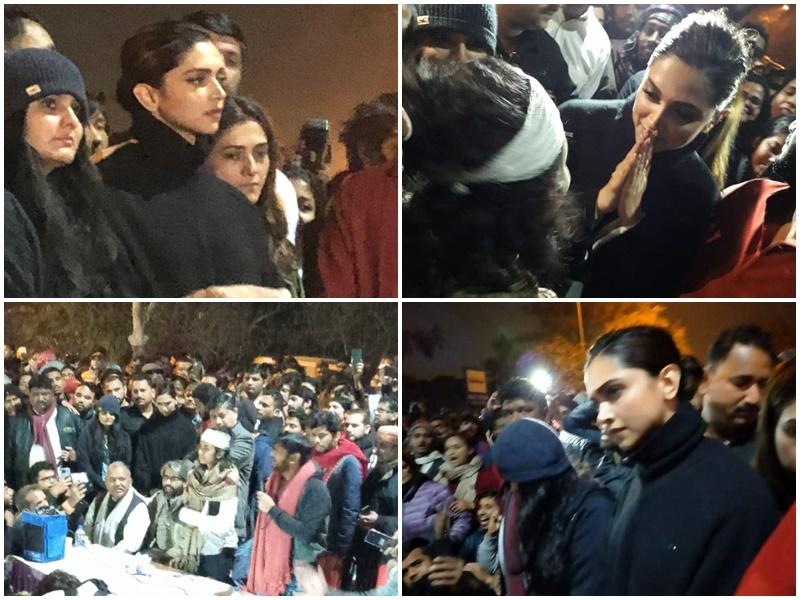 JNU में हिंसा के बाद छात्रों के समर्थन में आगे आईं Deepika Padukone, विरोध प्रदर्शन में शामिल