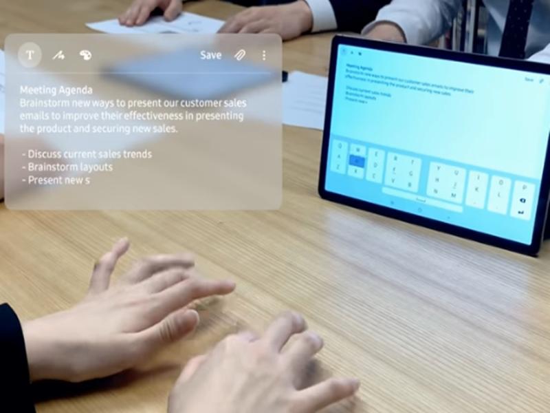 Samsung at CES 2020: Samsung ने पेश किया Selfie Type, मोबाइल के सेल्फी कैमरे से कर सकेंगे टाइप