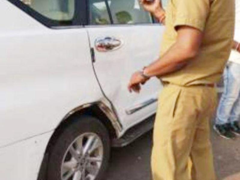 MP News : खंडवा के पास कार दुर्घटना में बाल-बाल बचे दो कैबिनेट मंत्री और पूर्व सांसद