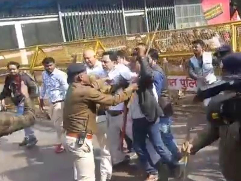 Bhopal News : शिवराज सिंह चौहान को 'गेट वेल सून' कहने पहुंचे कांग्रेसी, पुलिस से हुई झड़प