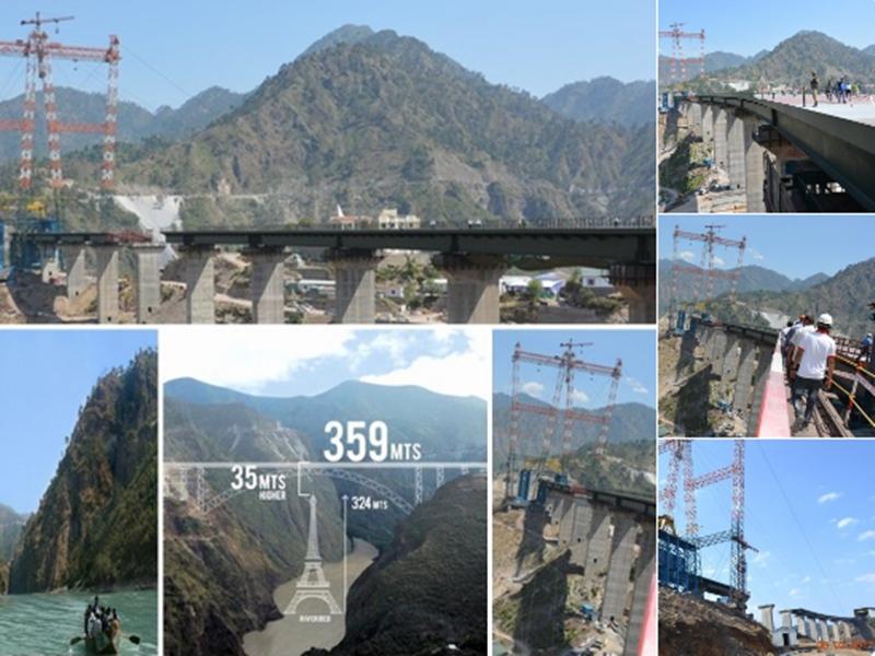 Jammu Kashmir: कश्मीर में दुनिया का सबसे ऊंचा आर्क पुल ले रहा आकार, इतना काम हुआ पूरा