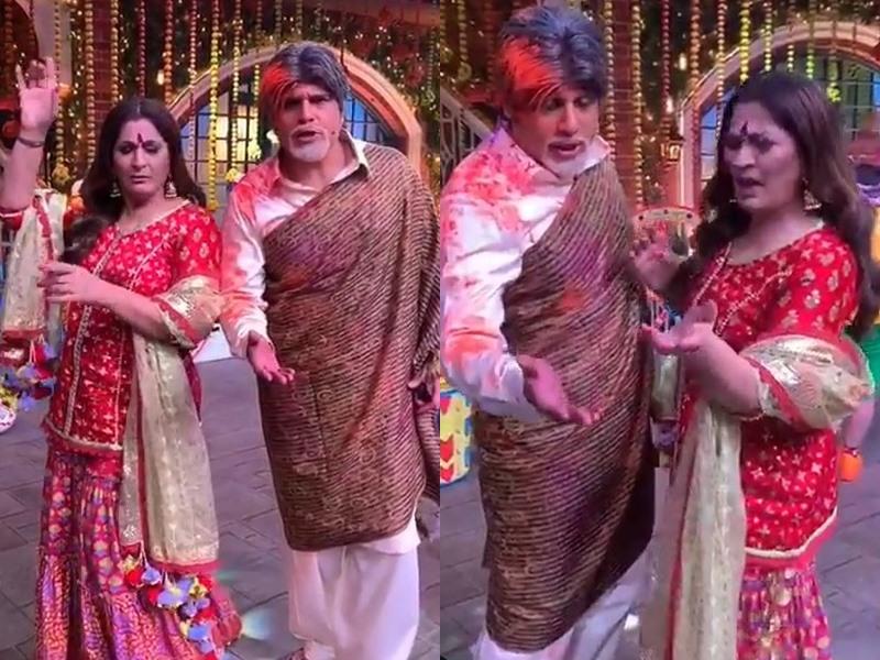 Krushna Abhishek जमकर नाचे Archana Puran Singh के साथ, माहौल था होली का