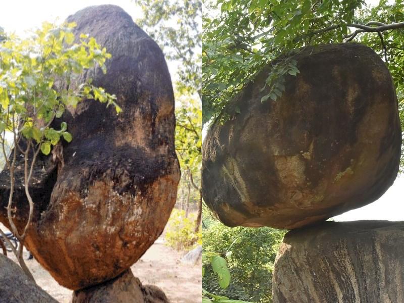 Balancing Rock Jabalpur : जबलपुर की पहाड़ियों में एक नहीं दर्जनों बैलेंसिंग रॉक, सहेजने की जरूरत