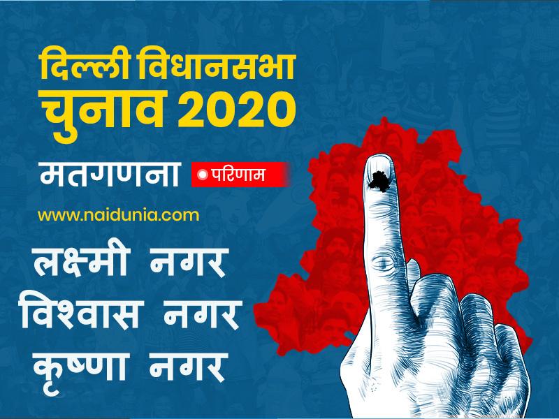 Laxmi Nagar, Vishwas Nagar, Krishna Nagar Election 2020 Results LIVE: लक्ष्मी नगर और विश्वास नगर पर भाजपा का कब्जा