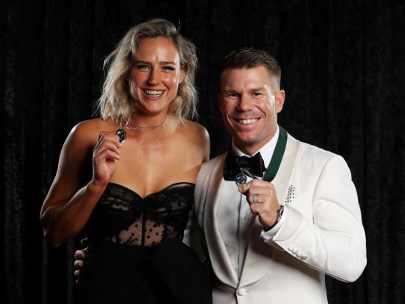 David Warner and Ellyse Perry का ऑस्ट्रेलियन क्रिकेट अवॉर्ड्स में दबदबा