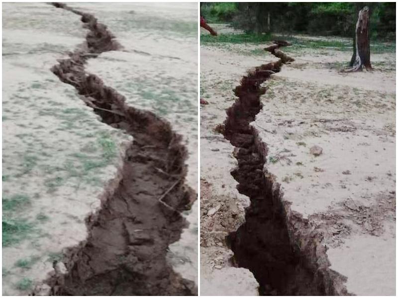 Haryana Land Crack: हरियाणा में हैरान करने वाली घटना, कई किलोमीटर तक फटी जमीन