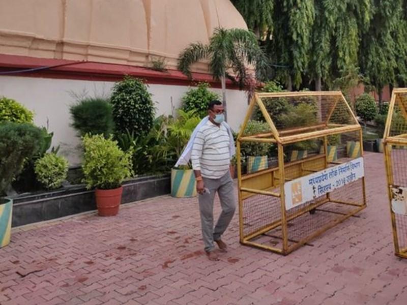 कांग्रेस नेताओं ने गंगाजल से साफ किया महाकाल मंदिर का शंख द्वार, यहीं से अंदर गया था विकास दुबे