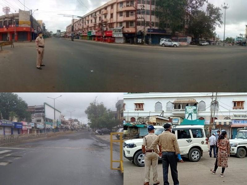 Total Lockdown in MP, Photos : भोपाल, इंदौर, बड़वानी, खंडवा सहित पूरे प्रदेश में आज टोटल लॉकडाउन
