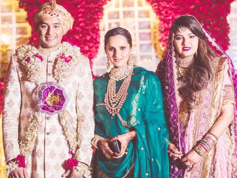 Sania Mirza sister marriage: सानिया की बहन का Azharuddin के बेटे से हुआ निकाह, देखिए तस्वीरें