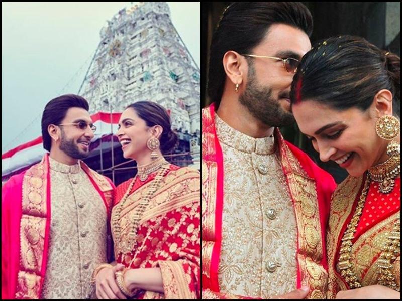 Ranveer Singh और Deepika Padukone ने first Anniversary पर तिरुपति के दर्शन किए, देखिए Photo और Video