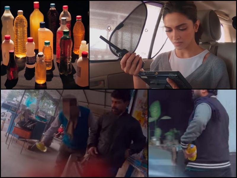 Deepika Padukone ने किया स्टिंग ऑपरेशन, बताया कितना आसान है Acid खरीदना और 24 बोतलें जमा कर ली