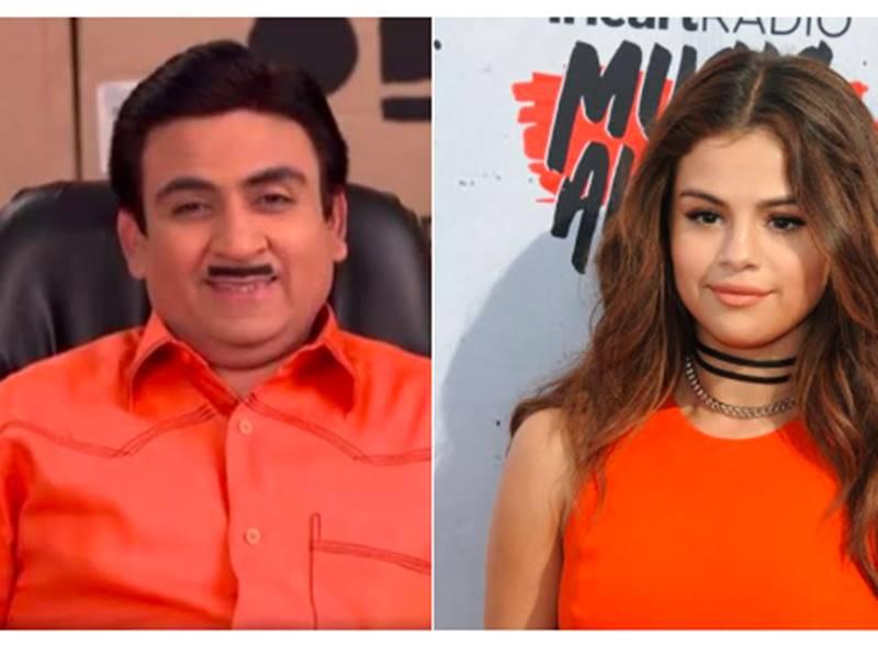 Taarak Mehta Ka Ooltah Chashmah: Jethalal Gadha और Selena Gomez हैं एक जैसे, यकीन ना आए तो देखिये ये पोस्ट