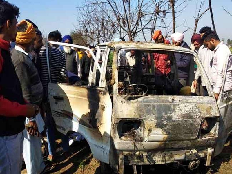 पंजाब के लोंगोवाल में स्कूल वैन में लगी आग, 4 बच्चों की मौत, 4 घायल