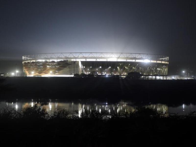 ICC ने शेयर किया दुनिया के सबसे बड़े क्रिकेट स्टेडियम का फोटो