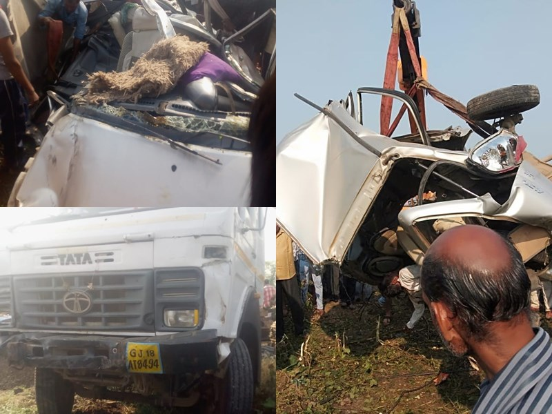 Road Accident in Barwani : बड़वानी में कार और ट्रक ट्राले की टक्कर में 5 लोगों की मौत