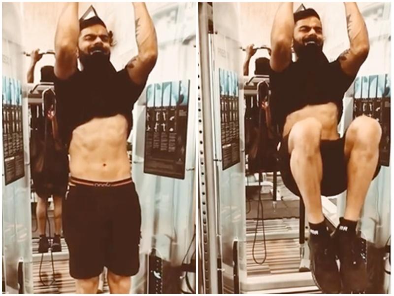 Virat Kohli workout: विराट ने दिखाए सिक्स पैक एब्स, पोस्ट किया अपना Video