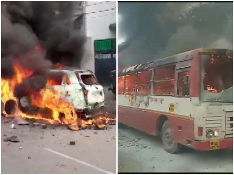 Uttar Pradesh CAA Protest: उत्तर प्रदेश में उग्र हुए प्रदर्शनकारी, बसें जलाईं, कई वाहन फूंके