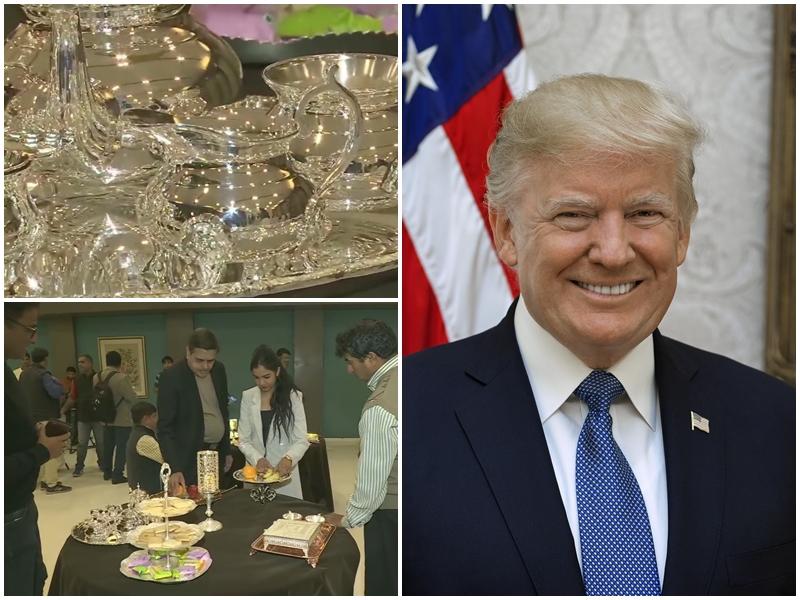 Donald Trump India Visit: सोने,चांदी के बर्तनों में परोसा जाएगा अमेरिकी राष्ट्रपति को खाना