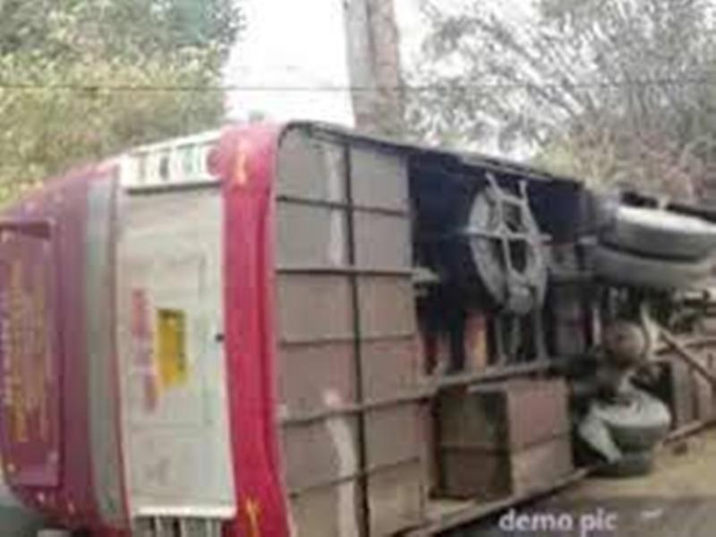 MP News : उज्जैन के पास आरपीएफ जवानों से भरी बस पलटी, 23 घायल