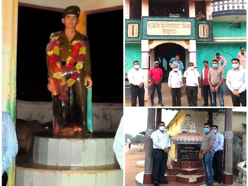 Gariyaband News: पुलिस अधिकारियों की अनूठी पहल, शहीदों के घर जाकर अर्पित की श्रद्धांजलि