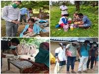 Sukma News: मलेरिया मुक्त बस्तर के लिए बरसाती नालों को पैदल पार कर घोर नक्सल क्षेत्रों में ऐसे पहुंची टीम, देखें तस्वीरें