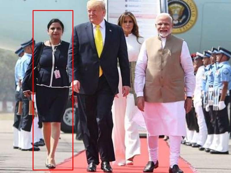 Donald Trump और PM Modi के साथ नजर आई महिला का फोटो वायरल, जानिए कौन हैं यह