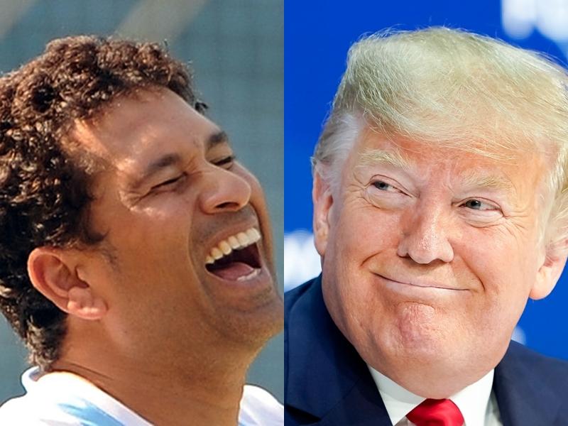 सोशल मीडिया पर छाए ट्रम्प, Soochin Tedulkar और Donald Trump Signature पर आए ऐसे कमेंट्स