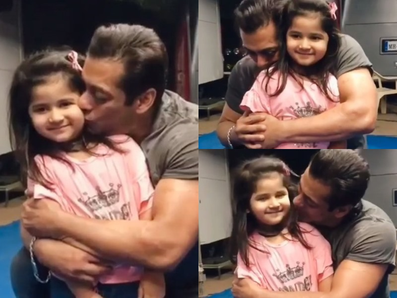 Salman Khan ने प्यारी-सी फैन को ऐसे किया दुलार कि लोग बोले मोस्ट गुड लुकिंग फादर बन सकते हैं