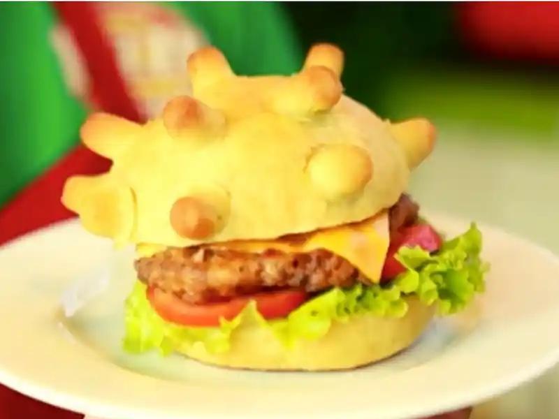 coronavirus का डर खत्म करने के लिए बनाया उसके जैसा बर्गर, वायरल हो रही तस्वीर