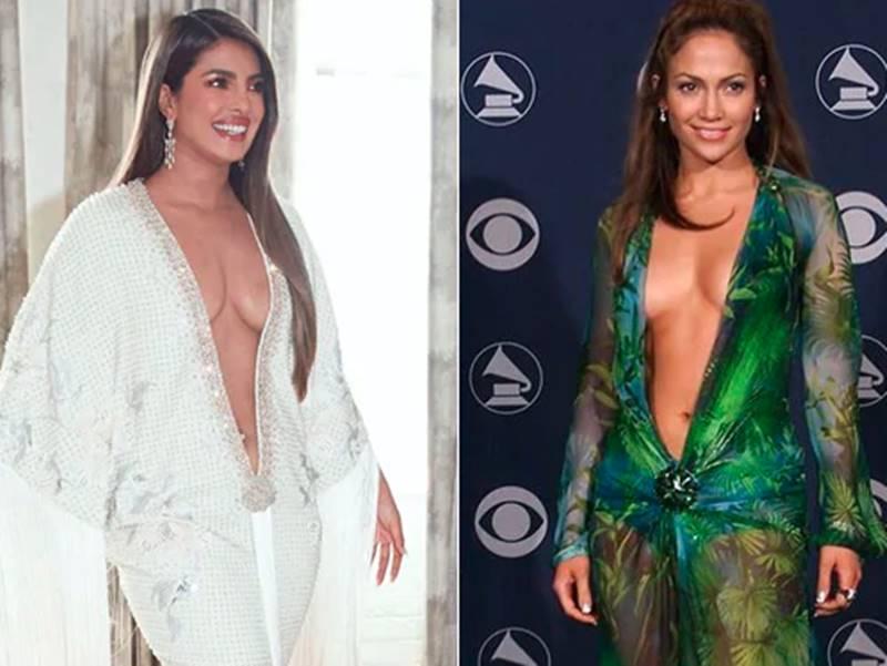 Grammy Awards में Priyanka Chopra की ड्रेस निकली नकल, 20 साल पहले JLO ने पहनी थी