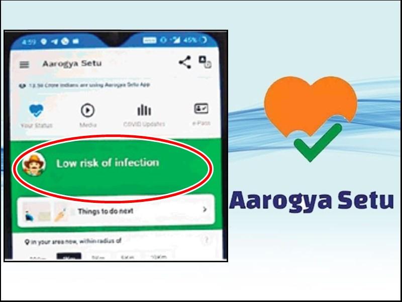 पत्नी पॉजिटिव, पति के मोबाइल पर Aarogya Setu App बता रहा लो रिस्क