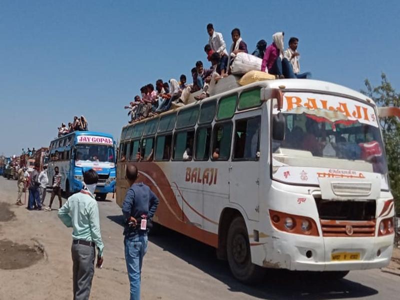 Coronavirus in Madhya Pradesh : ग्वालियर-चंबल अंचल के जिलों की सीमाओं पर फंसे हजारों परिवार