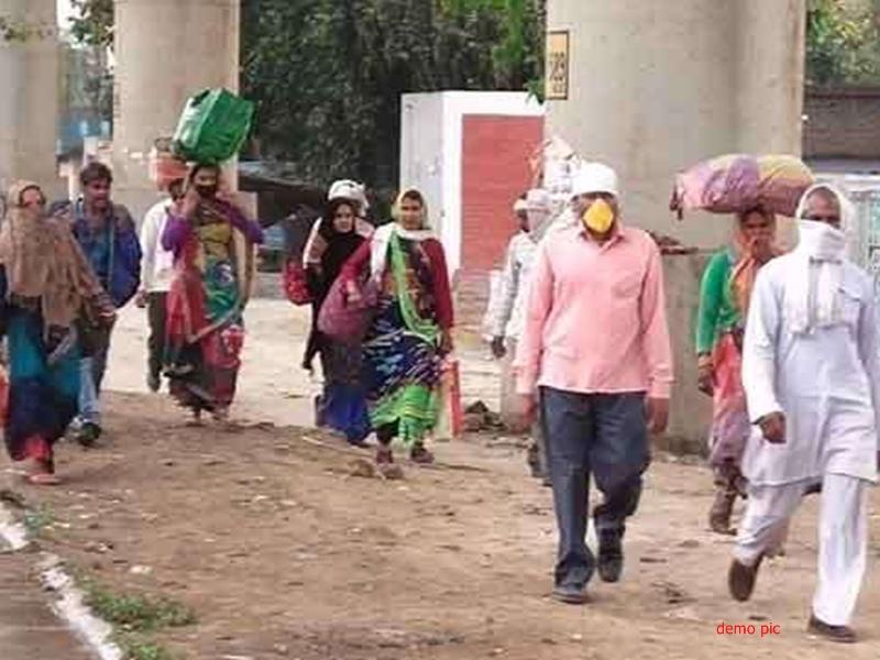 Coronavirus inJabalpur : लोगों का पलायन रोकने के लिए अस्थायी आश्रय स्थलों पर की व्यवस्था