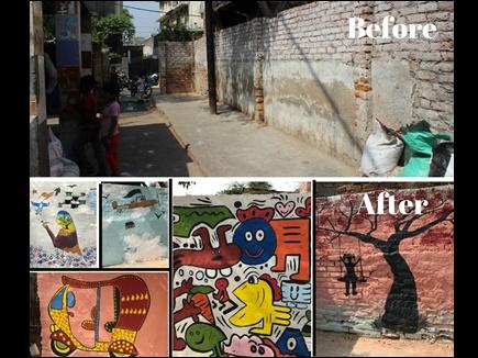 कॉलेज स्टूडेंट्स के एनजीओ नवागत ने बदली दिल्ली की गंदी बस्ती की शक्ल-सूरत