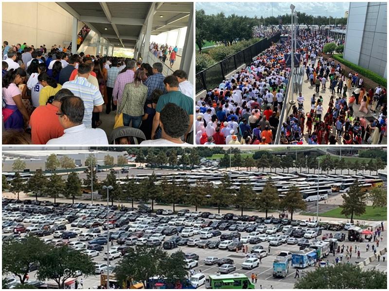 Howdy, Modi: तस्वीरों में देखें NRG स्टेडियम का जीवंत माहौल, ट्रंप और मोदी के लिए जुटे हजारों लोग