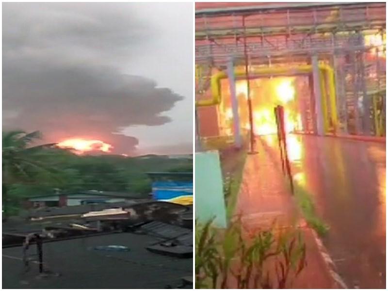 महाराष्ट्र: नवी मुंबई के उरण में ONGC प्लांट में लगी आग, 5 लोगों की मौत की आशंका